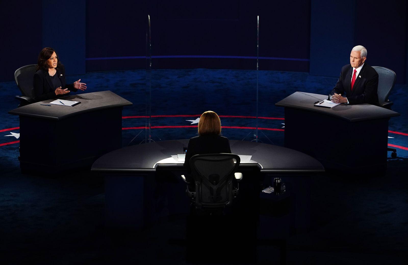 2020 Vice Presidential debate between US Vice President Mike Pence and Senator Kamala Harris, Salt Lake City, USA - 07 Oct 2020