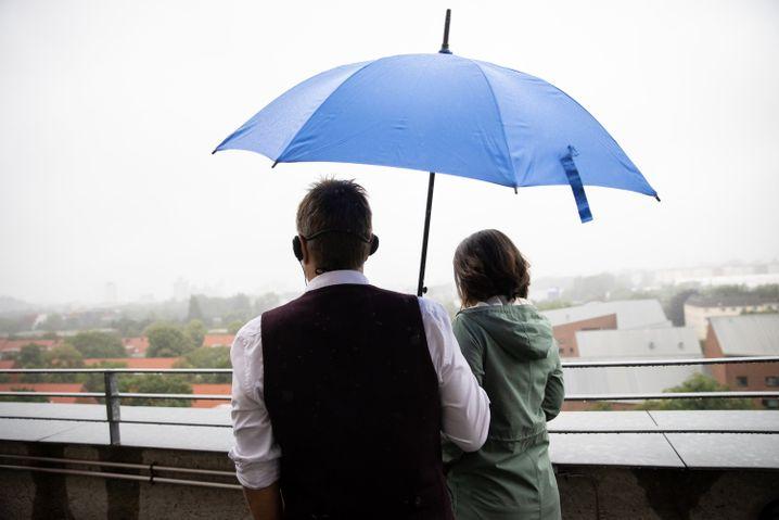Grünes Spitzenduo unterm Regenschirm: Endlich regieren