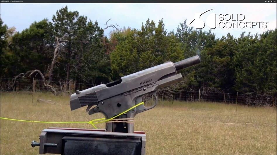 Metall-Waffe aus dem 3D-Drucker: Hat schon mehr als 50 Schüsse überstanden