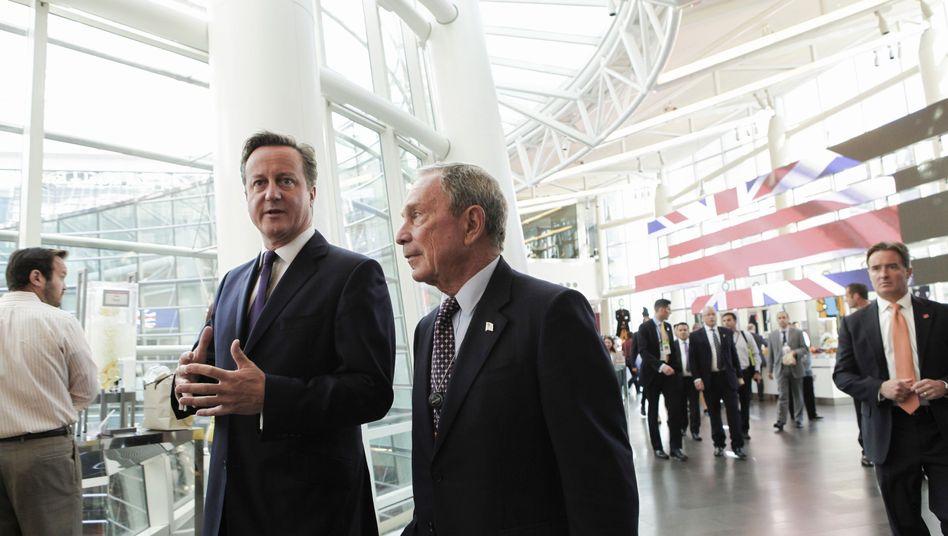 David Cameron und Michael Bloomberg: Plaudern über die Queen