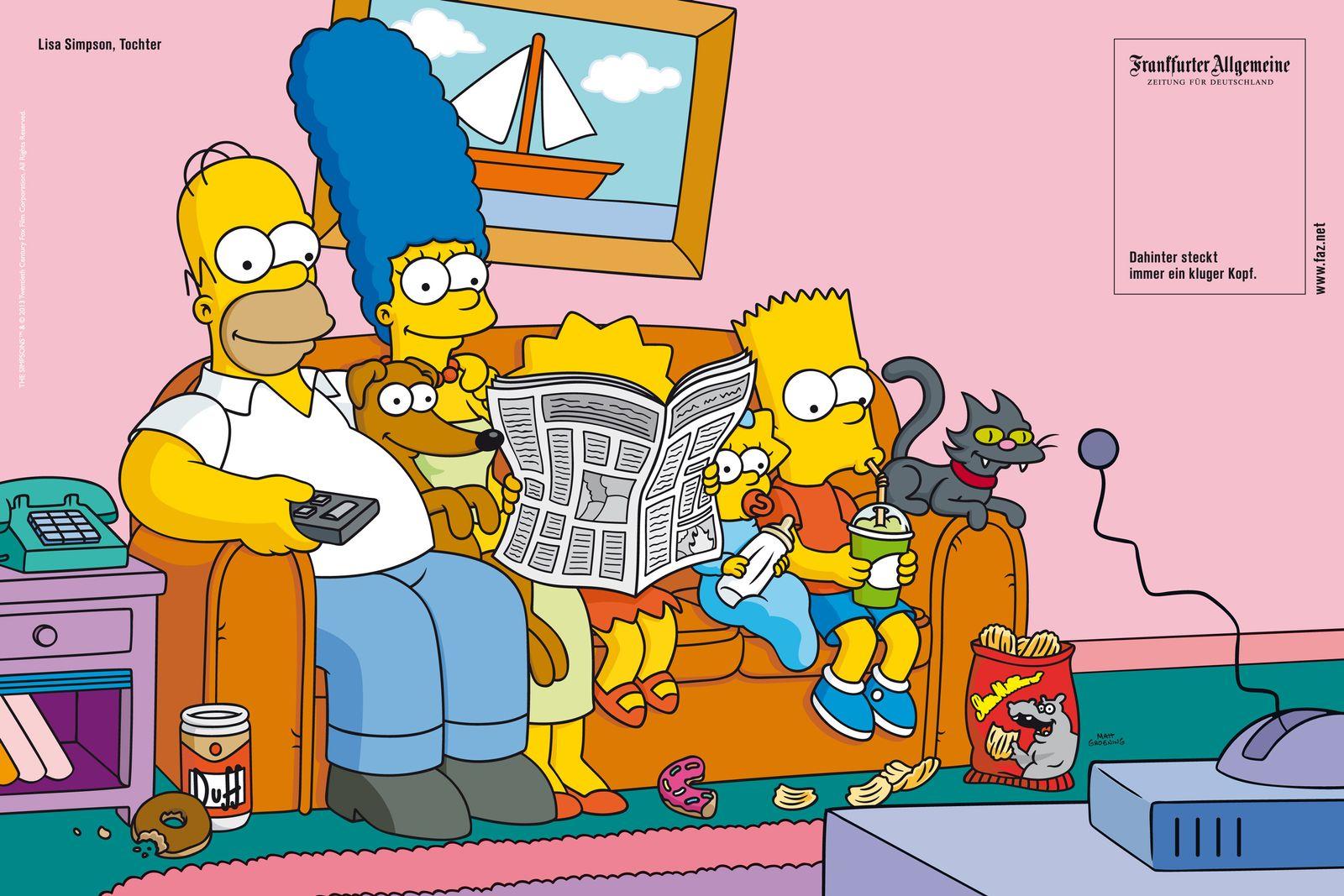EINMALIGE VERWENDUNG FAZ/ Werbung/ Simpsons