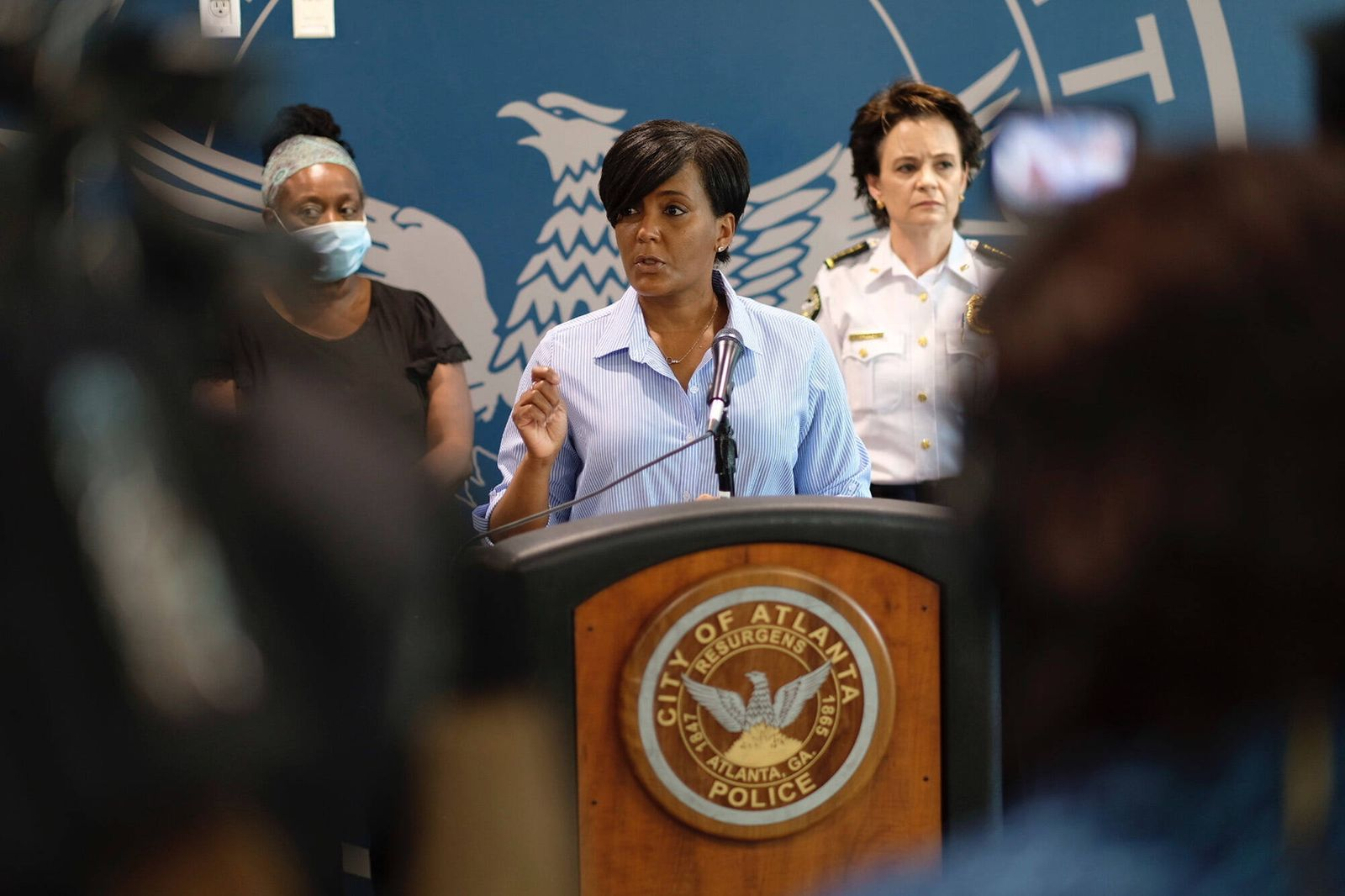 May 30, 2020, Atlanta, GA, USA: Atlanta Mayor Keisha Lance Bottoms announces a 9 p.m. curfew as unrest continues for a s
