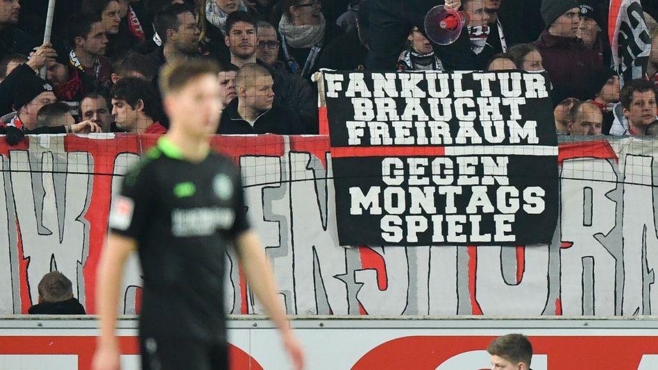 Stuttgarter Fans protestieren