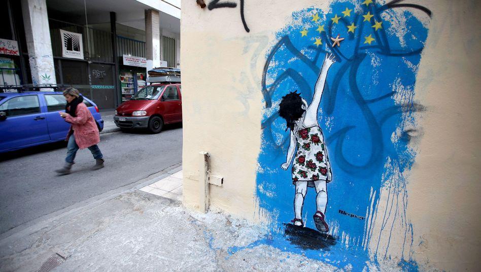 Graffiti in Athen: Ringen um die Höhe der Rechnung