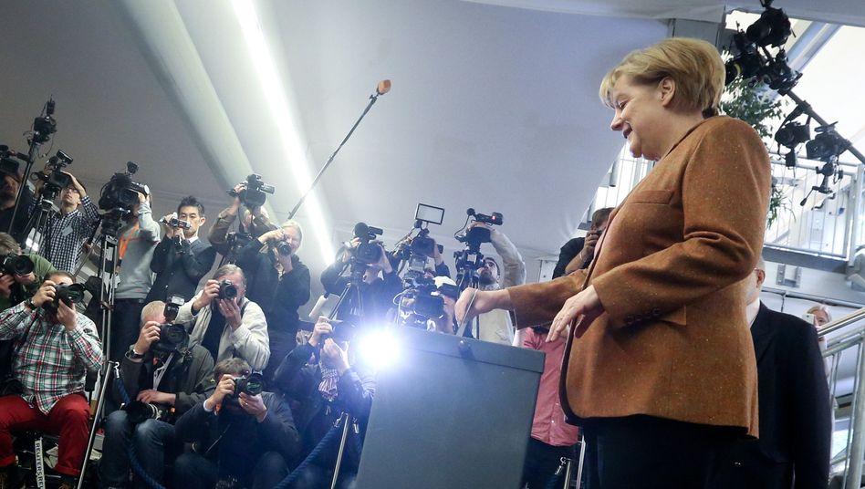 Kanzlerin Merkel bei der Bundestagswahl 2013: Es ändert sich nichts, außer wir sorgen dafür, dass sich etwas ändert