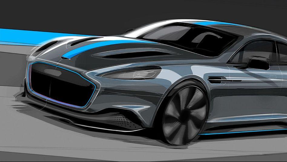 Konzeptzeichnung des Aston Martin Rapide E