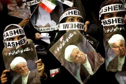 Wahlkampf in Iran: Anhänger von Präsidentschaftskandidat Rafsandschani