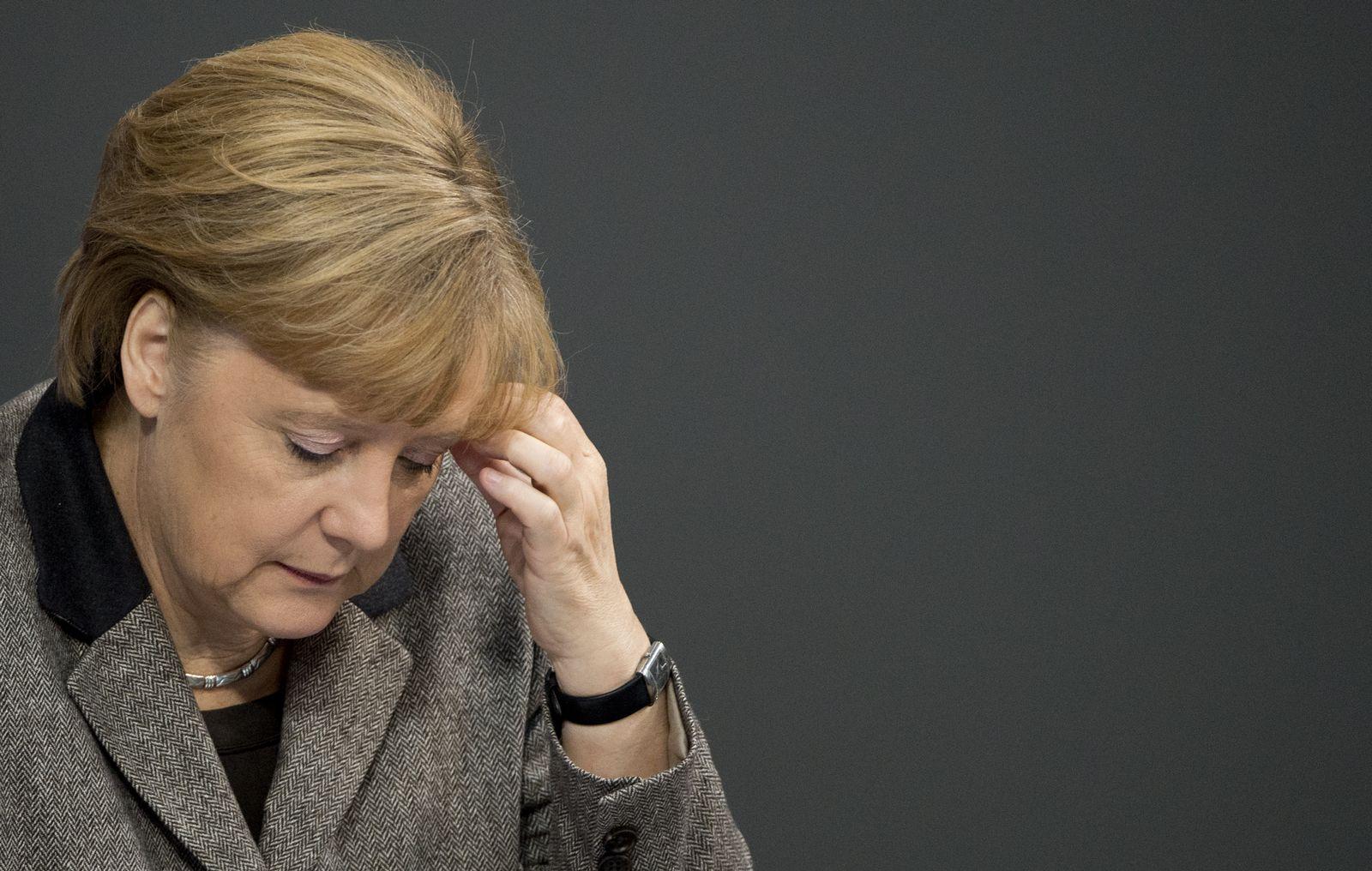 NICHT VERWENDEN Merkel / betroffen