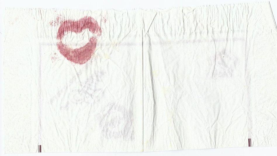Serviette mit Lippenstiftabdruck: Einmal abgetupft, macht 2600 Euro