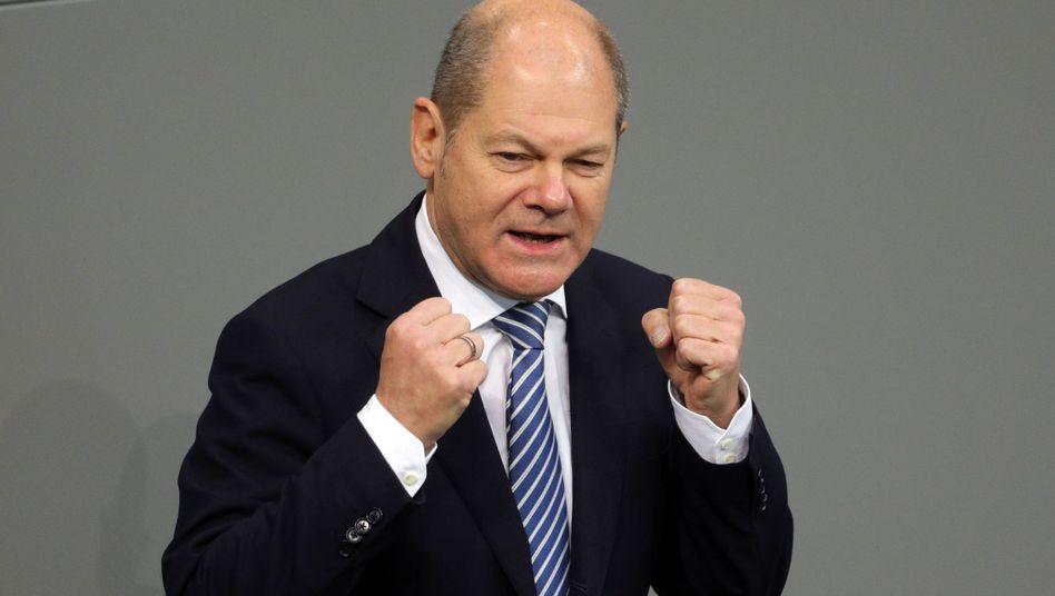 Finanzminister Scholz: Vier Milliarden Euro für die Rücklage