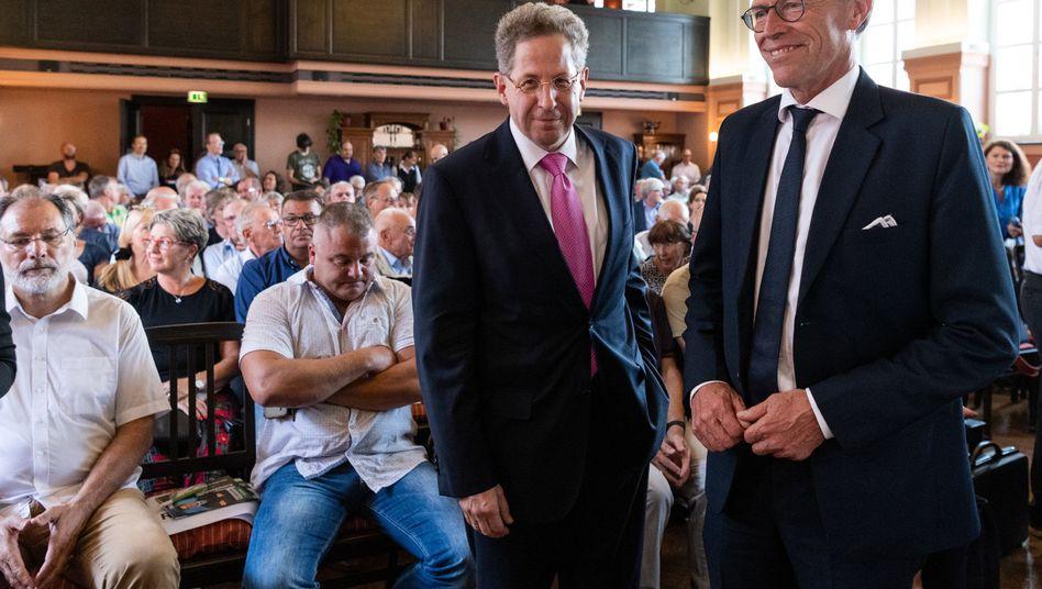 Hans-Georg Maaßen (l.), Matthias Rößler, sächsischer CDU-Landtagsabgeordneter