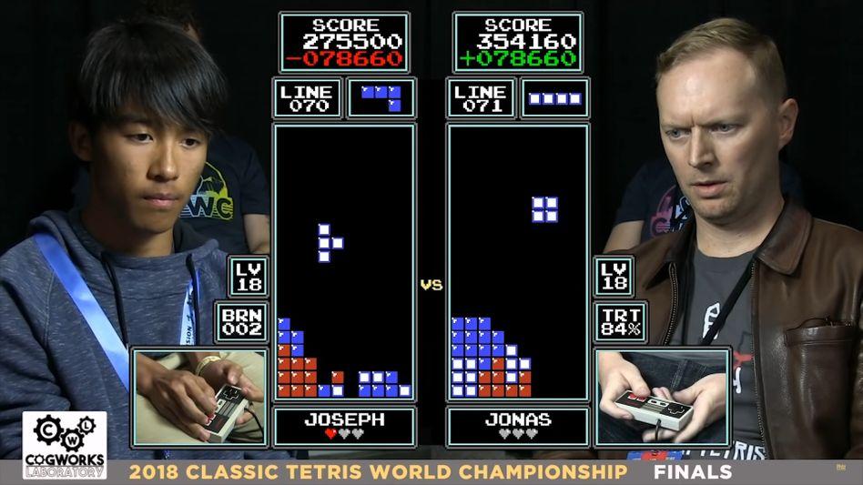 Das Finalmatch zwischen Joseph Saelee und Jonas Neubauer ist der meistabgerufene NES-»Tetris«-Clip auf YouTube