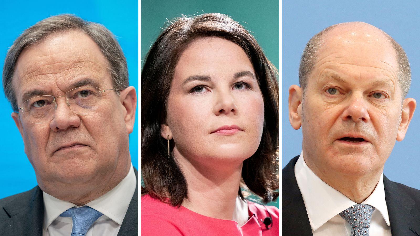 Kanzlerkandidaten/innen LAschet / Baerbock / Scholz