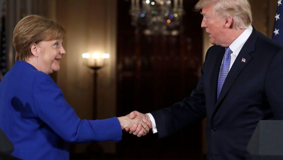 Angela Merkel, Donald Trump in Washington