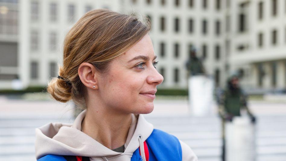 Tut.by-Journalistin Jelena Tolkatschewa, seit 18. Mai in Haft