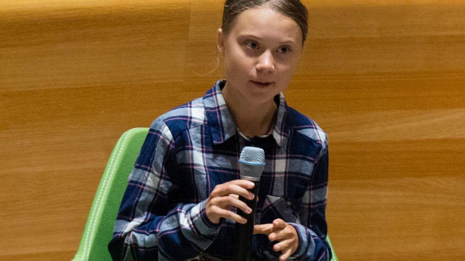 Greta Thunberg vor dem Jugendgipfel der Uno