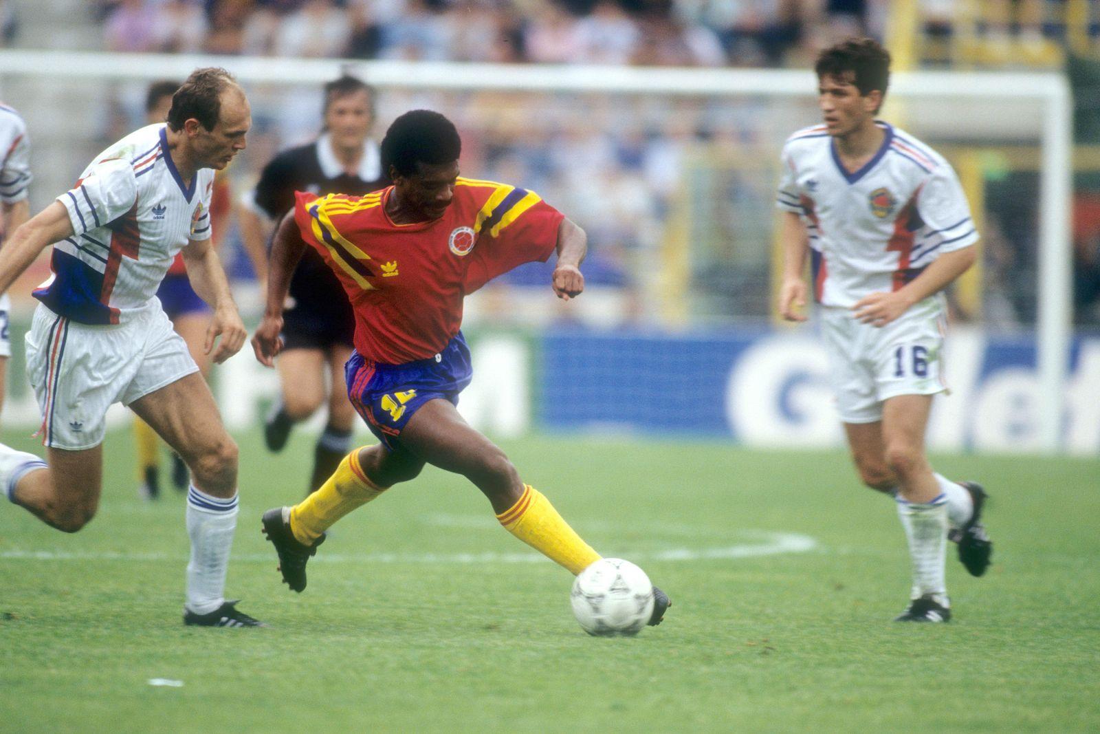 EINMALIGE VERWENDUNG Arnoldo Iguarán/ Arnoldo Iguaran/ Kolumbien/ 1990