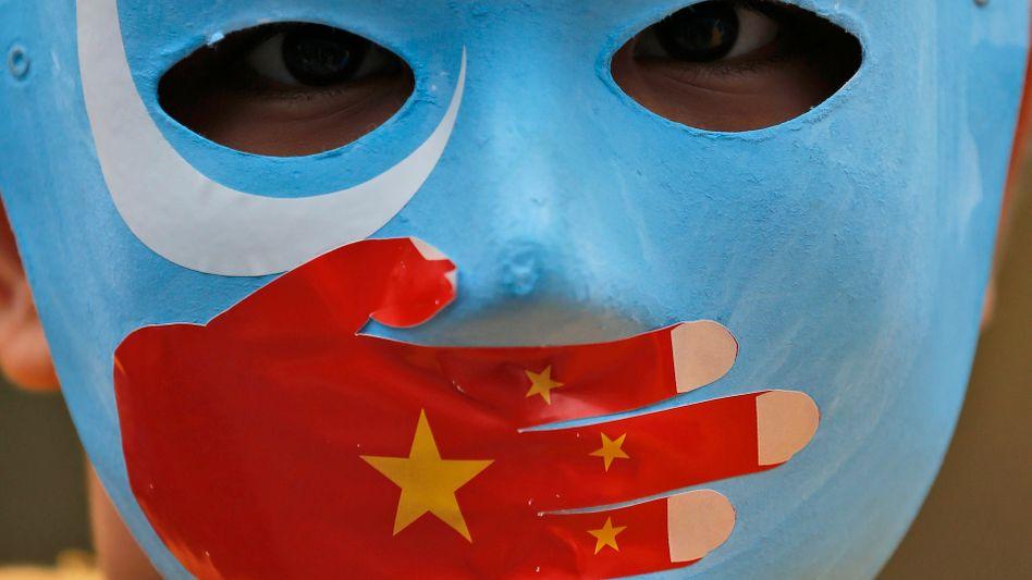 Protest gegen Chinas Menschenrechtsverstöße