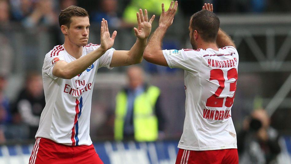 """HSV-Spieler Jansen, van der Vaart: """"Keine Gespräche über Vertragsverlängerung"""""""