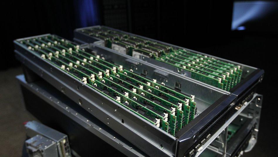 Prototyp des neuen HP-Servers: Nur ein Zehntel des Platzbedarfs herkömmlicher Rechner