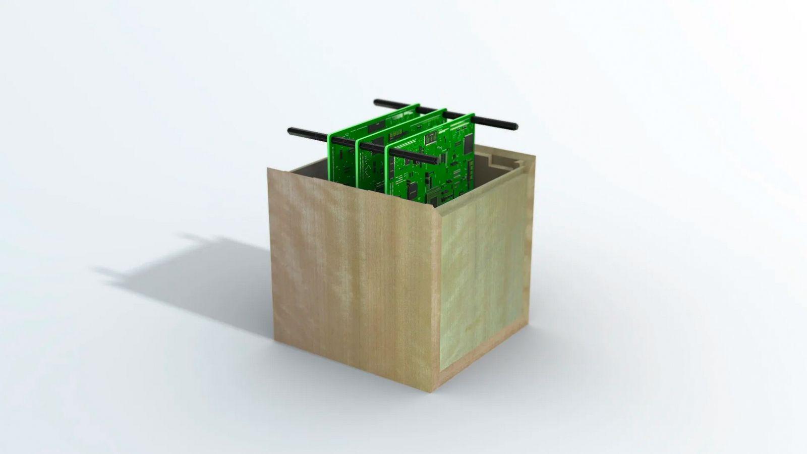 Holz Satellit