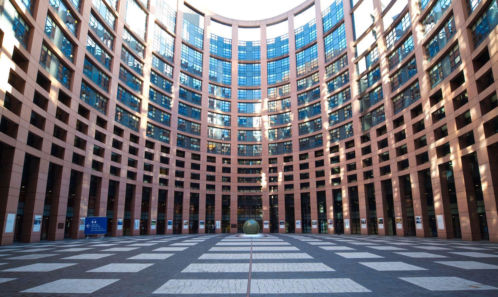 Strasbourg, France - February 05, 2020: German-French Parliamentary Assembly / Deutsch-Französische Parlamentarische Ver