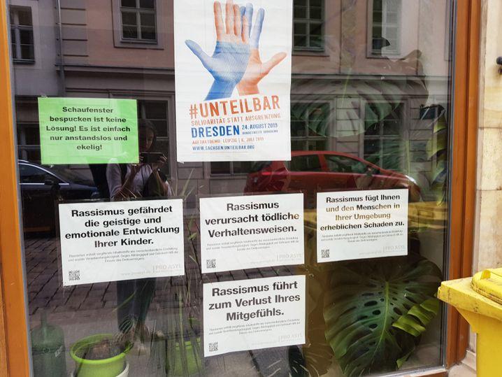 """Grünenbüro in Pirna: """"Spucken ist keine Lösung"""""""