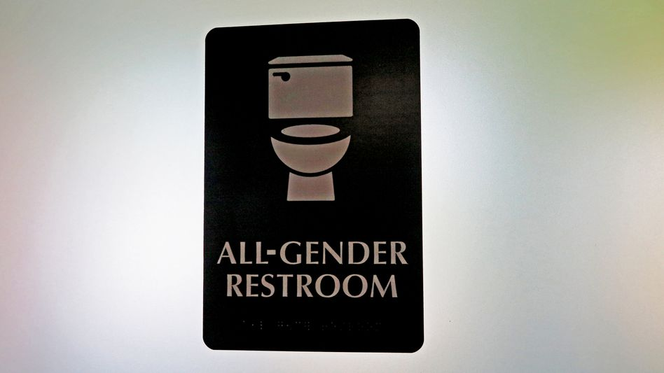 Toilettentür in North Carolina