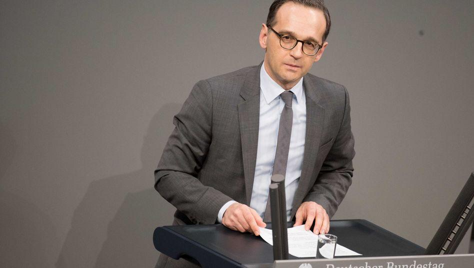 Bundesjustizminister Heiko Maas (am 18. Januar im Bundestag)