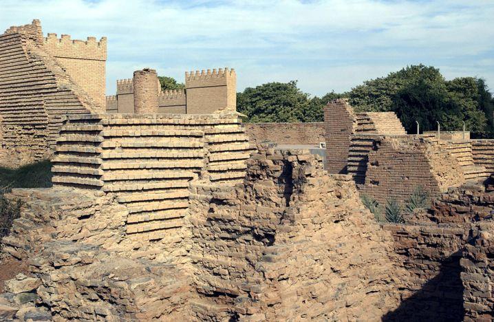 Ruinen des Palastes von König Nebukadnezar in Babylon