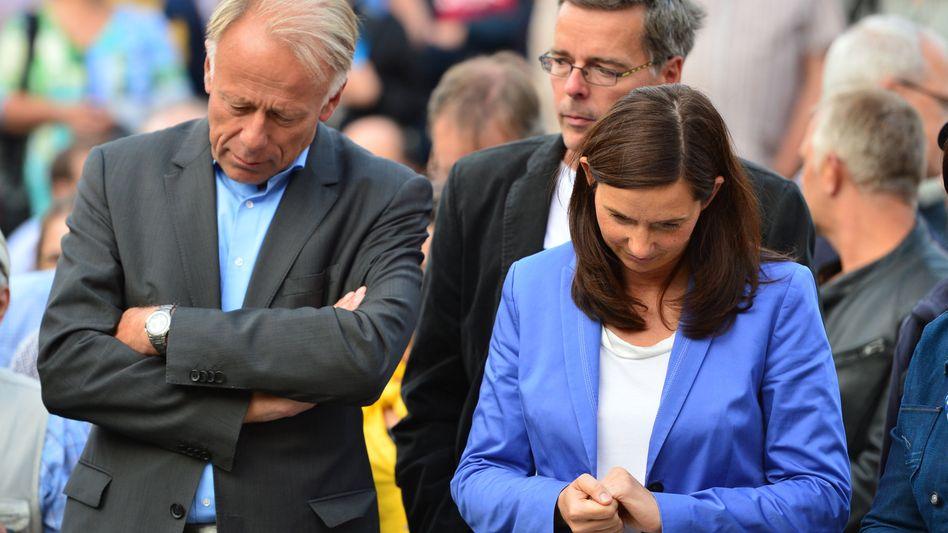 """Grünen-Spitzenkandidaten Trittin, Göring-Eckardt: """"In aller Gelassenheit abwarten"""""""