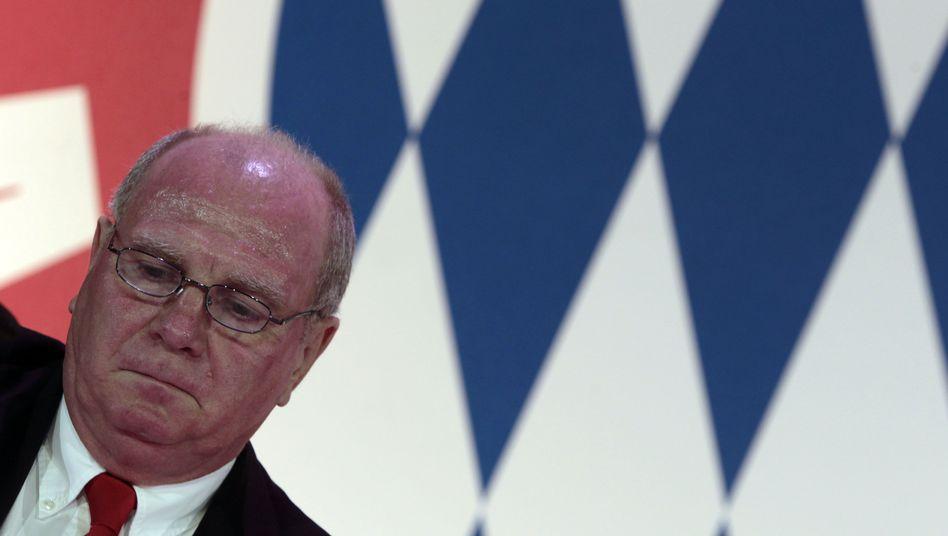 Bayern-München-Präsident Hoeneß: Selbstanzeige beim Finanzamt am 13. Januar gestellt