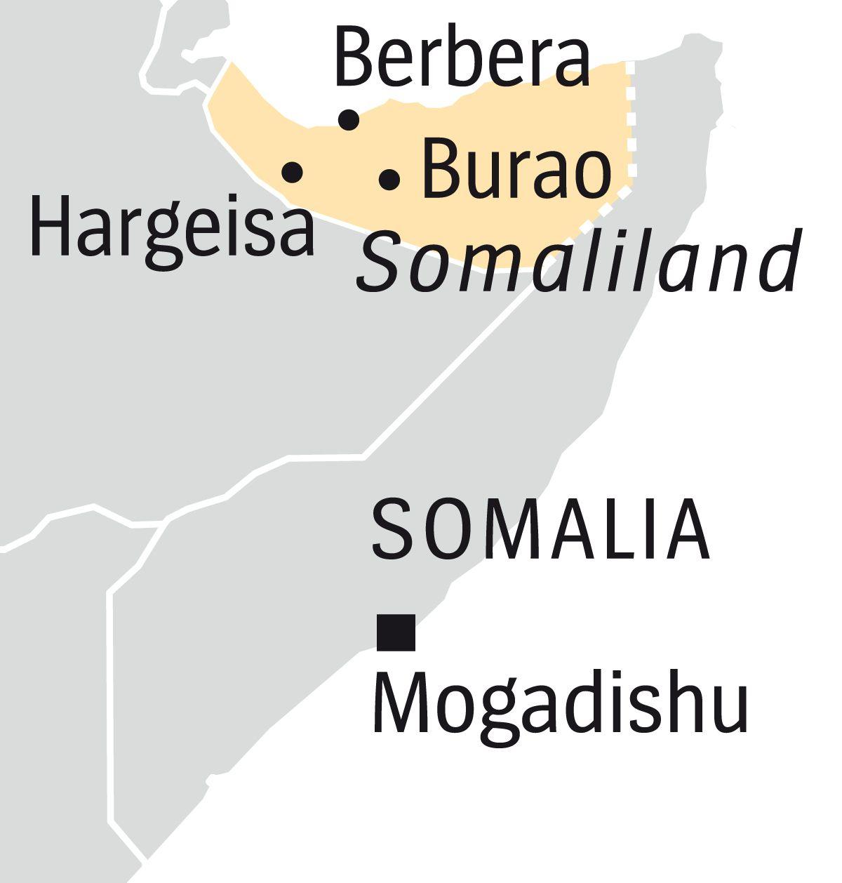 Englische Version --- DER SPIEGEL 25/2017, Seite 88 Map Somalia