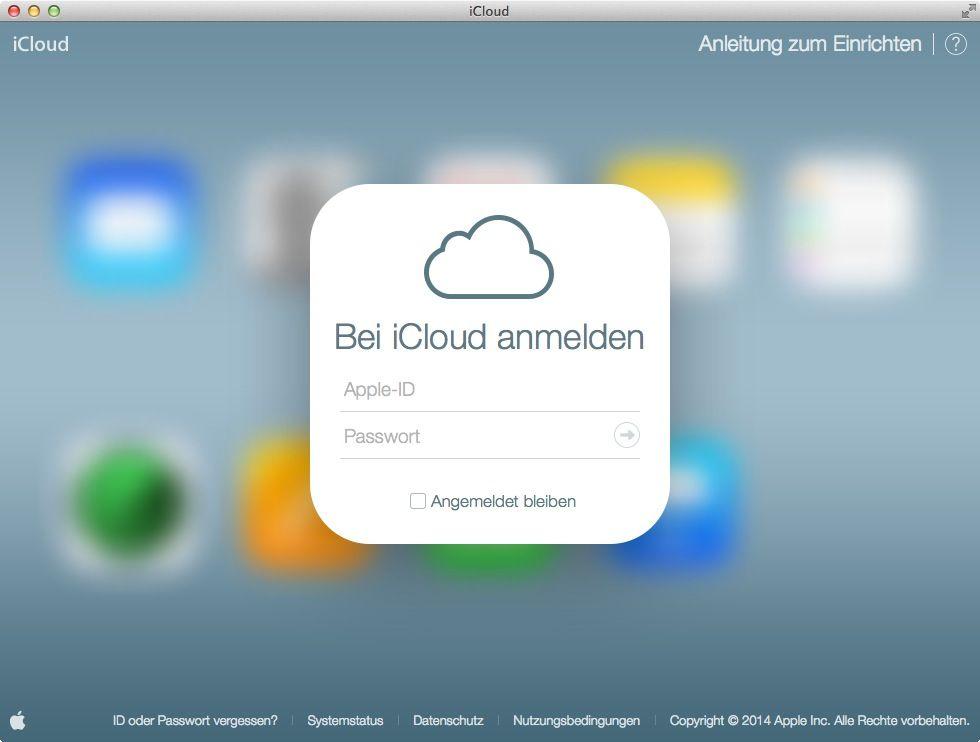 NUR ALS ZITAT Screenshot iCloud