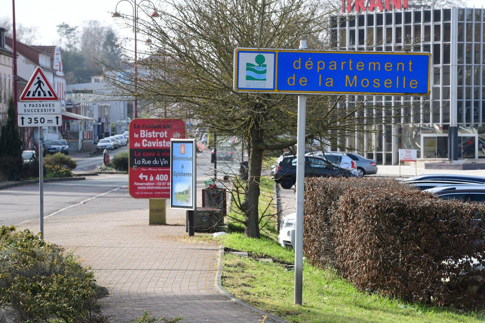 Die Deutsch-Französische Grenze an der Goldenen Bremm in Saarbrücken verbindet Frankreich mit Deutschland vor allem auch