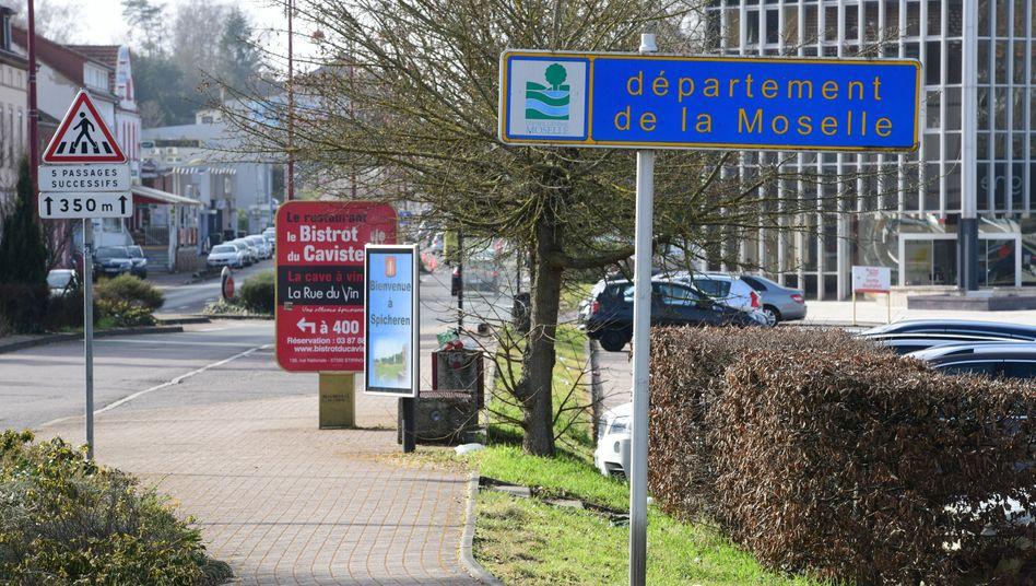 Deutsch-französische Grenze in Saarbrücken