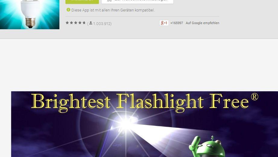 """""""Brightest Taschenlampe"""": Diese App verriet den Aufenthaltsort ihrer Nutzer"""