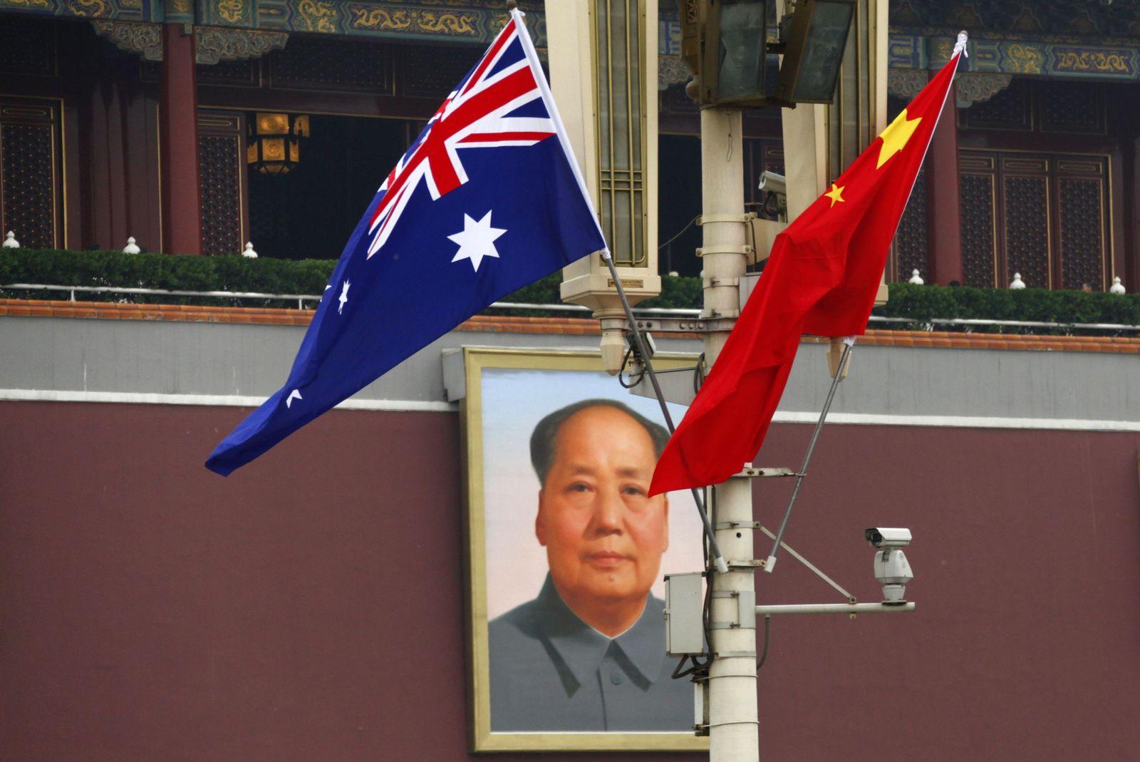 China / Australien / Flaggen