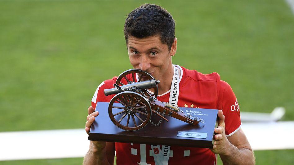 34 der 100 Bayerntore gingen auf das Konto von Robert Lewandowski