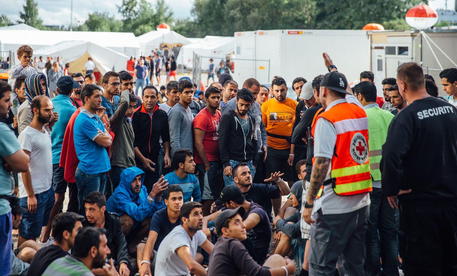Flüchtlingsprotest in Dresden