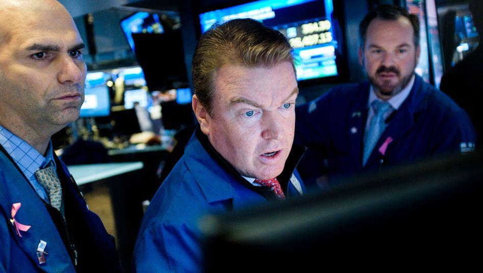 Händler an der Wall Street in New York