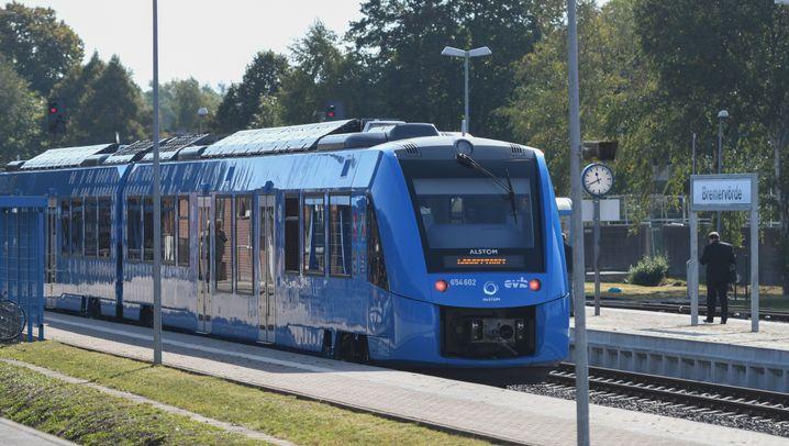 Niedersachsen: Wasserstoffzug auf Jungfernfahrt