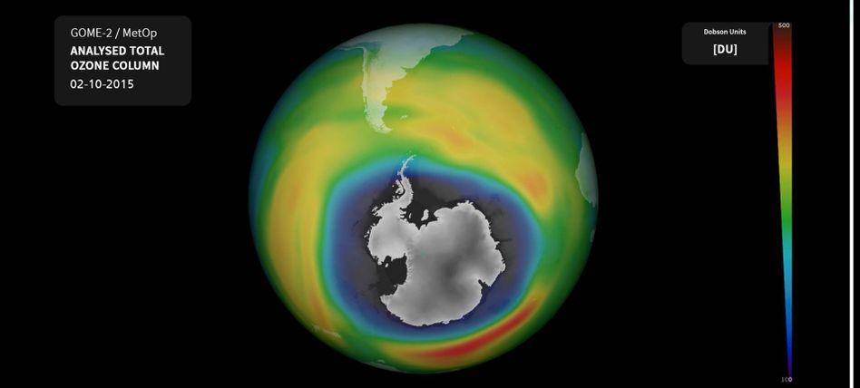 Defekte Schutzschicht über der Antarktis: 2,5 Millionen Quadratkilometer größer