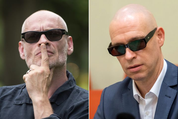 Links: Der Schauspieler Johannes Krisch, rechts der Rechtsanwalt Olaf Klemke