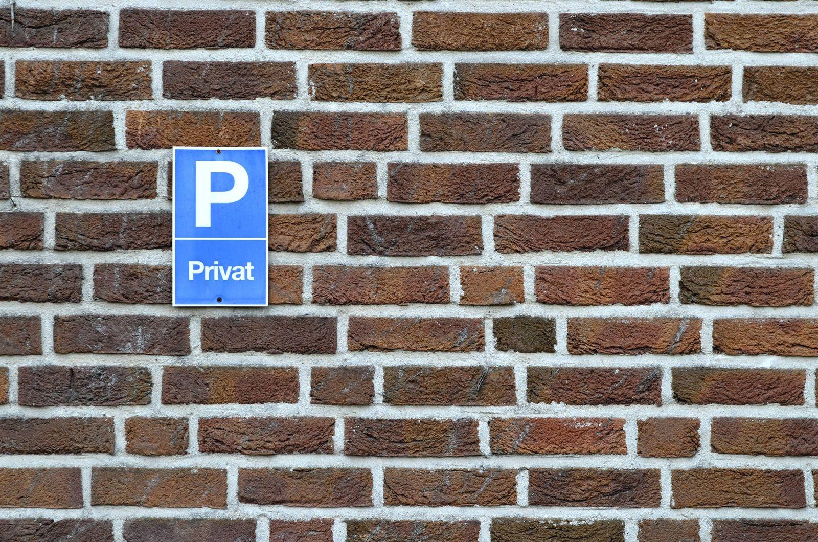 EINMALIGE VERWENDUNG Parkplatz / Symbol