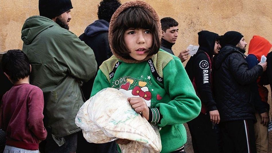 Flüchtlingskind in Idlib