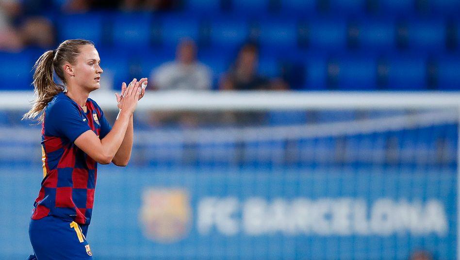 Caroline Graham Hansen verpasste mit dem FC Barcelona das Finale der Champions League