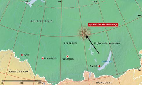 Tunguska-Katastrophe: Kahlschlag in sibirischem Wald