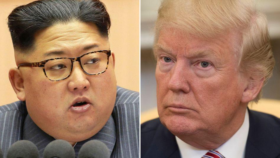 Nordkoreas Machthaber Kim Jong Un; US-Präsident Donald Trump
