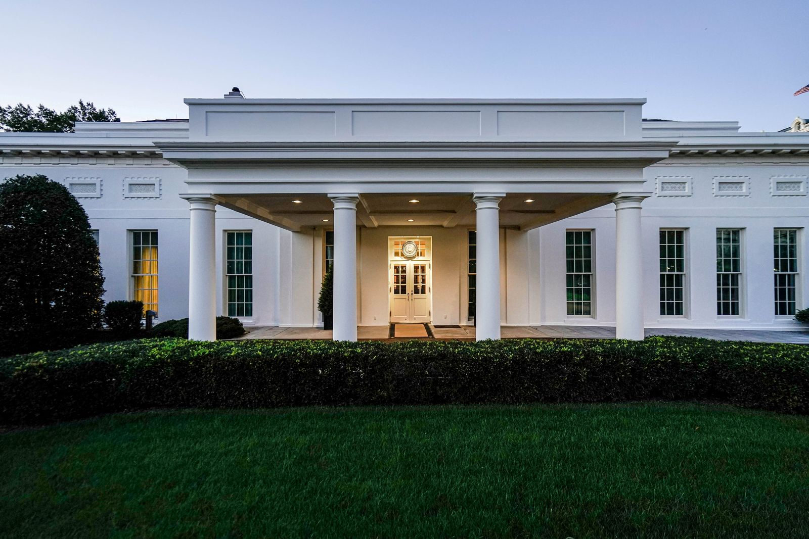 FILE PHOTO: White House in early morning light prior to President Trump's campaign travel to Michigan and Wisconsin